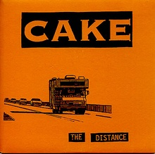 "Cover art from Cake's 1996 7inch vinyl. The song ""The Distance"" is laced with auto ..."