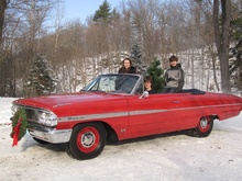 Our 2010 Christmas card featuring 1964 Ford Galaxie 500.