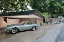 The Wolfe House located in Los Angeles and designed by John Lautner in 1961. Ferrari ...