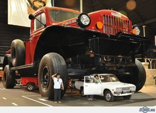 This pic gives you a real sense of just how big the old Power Wagons ...