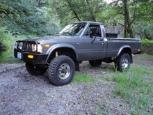 This 1983 Toyota 4×4 pickup is a is displayed with dozens of detail photos thad ...