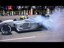Electric Burn-out on the streets of Los Angeles - FIA Formula E