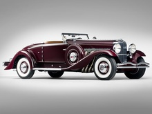This 1935 Duesenberg Model SJ Convertible Coupe by Walker-LaGrande is expected to fetch between $3,500,000 ...