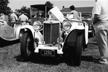 MG TC at a New England event late 1970s.