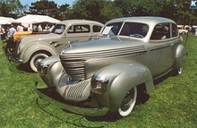 "1939 Graham ""Sharknose"" Combination Coupe with supercharger."