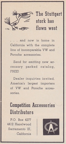 R&T Oct 1956 advert: I wasn't aware there was such a thing as a Stuttgart ...
