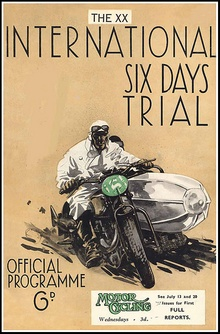 International Six Days Trial poster from 1938.