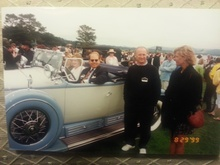 Steve and Susan Babinsky share in their customer's joy at 1999 Pebble Beach victory. With ...