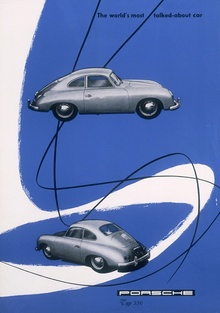 Porsche 356 advertisement circa 1955. Image source: http://www.iainclaridge.co.uk/blog/category/advertising/page/3