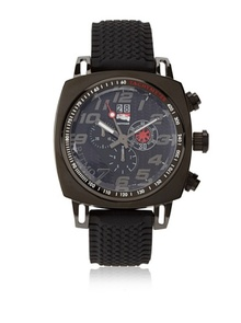 RITMO MUNDO MEN'S 221 INDYCAR SERIES QUARTZ CHRONO WITH BLACK ION-PLATING CASE WATCH, $850.