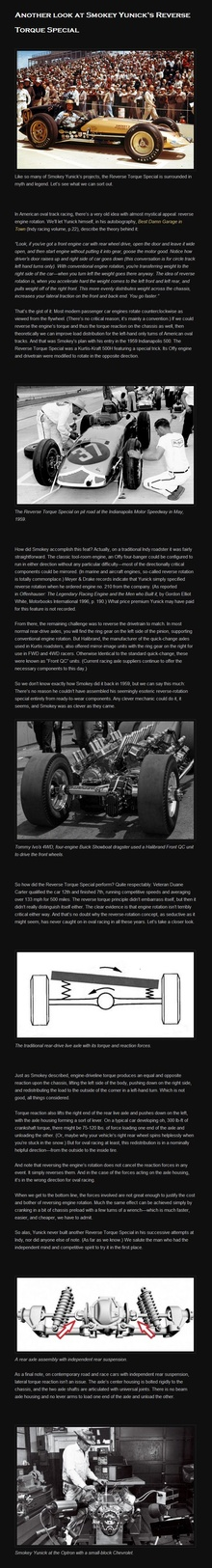 Like so many of Smokey Yunick's projects, the Reverse Torque Special is surrounded in myth ...