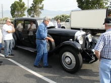 Jay Leno and his 8-Litre Bentley. Park Ward body, I think.