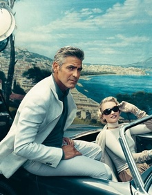 George Clooney and Austin Healey Sprite. Who's the gal?