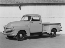 "Early version of Chevy's ""Advanced Design"" half-ton pickup trucks from the late forties."