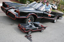 Many variations of Batmobiles, cool!