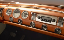 Interior of the 1955 Lincoln Indianapolis. Beautifully designed, but it takes up the whole dash!