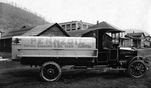 Early Penzoil delivery truck.
