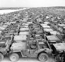 Great pic from Life magazine. Army Jeeps as far as the eye can see!