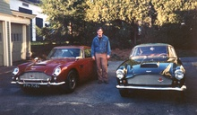 November 1988 flanked by Aston Martins. At left, DB5/1775/R purchased for $34,000. At right my ...