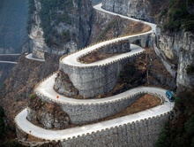 Winding road in what country?