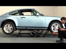 QuickJack Portable Car Lift Demo with a Porsche 911.