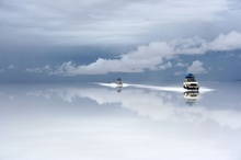 The Uyuni Salt Lake of Tunupa, covers 12000 km square, making it the biggest salt ...