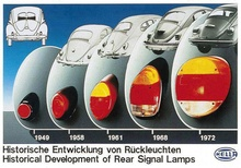 VW tail lights through the years.