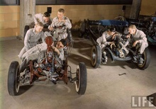 Incredible Life Magazine photo early 1960s hot rod garage.