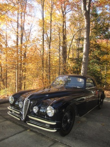 The two best things in life: Crisp fall weather and a vintage Alfa!