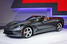 First production 2014 Corvette Stingray Convertible auctioned for a cool million. Barrett-Jackson auctioned off the ...