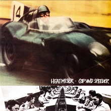 "Album cover for Heatmiser ""Cop & Speeder"" featuring D-type Jag."