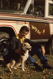 Conway Twitty and his Bronco.
