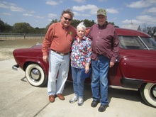 Bob and Carol Colenbaugh hand over the keys to their 1950 Studebaker to new owner ...