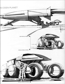 "Syd Mead ""Forbidden Planet"" vehicle concept."