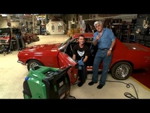 Jay Leno shows us how to detail a car with... steam.