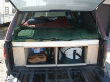 Convert the back of your truck into a camper with plenty of storage. No more ...