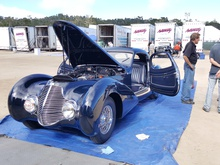 Incredible 1948 Delahaye at the 2015 Pebble Beach concours prep field.