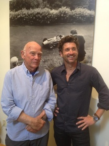 Motorsports photographer Jesse Alexander and VIP visitor Patrick Dempsey.