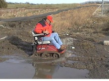 Don't let disability get between you and the mud!