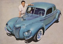 George Barris custom wildly sectioned and modified 1940 Ford from the early sixties.