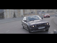 BMW M5 street drifting. This guy is crazy!