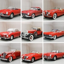 A batch of red cars for Valentine's Day from Hyman. I'll take the red Jag!