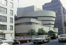 New York City 1965 featuring the Guggenheim Museum designed by Frank Lloyd Wright. Ford Country ...