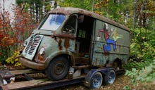 Aerosmith van found languishing in Massachusetts woods.