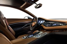 Interior view of the Cadillac Elmiraj concept.