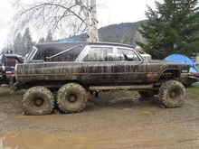Cadillac hearse doubles as ATV.