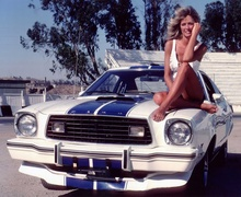 "1976 Ford Mustang Cobra II For ""Charlie's Angels"" with Farrah Fawcett as Jill Munroe."