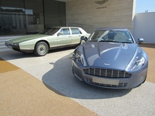 1980s Aston Martin Rapide and current day AM V8.