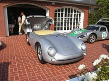 Porsche 550 and 904. Not a bad place for a neighborhood barbecue.