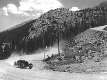 Bill Milliken, Pikes Peak, 1947. 'Mildly' modified type 35 Bugatti